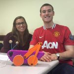 Students show off their final pull toy projects